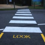 Line marking HQ Crossing